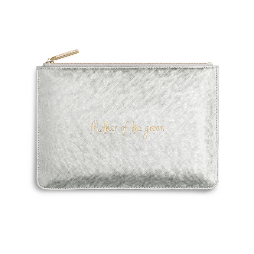 PERFECT POUCH - MOTHER OF THE GROOM - METALLIC SILVER