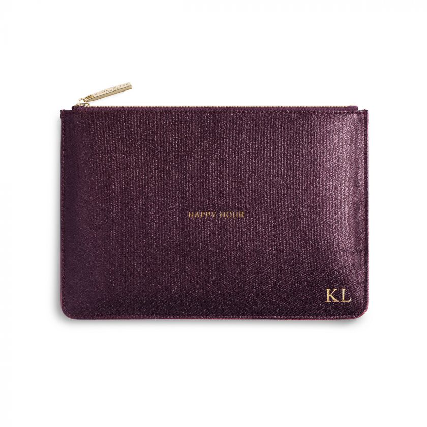 PERFECT POUCH - HAPPY HOUR - BURGUNDY SHIMMER