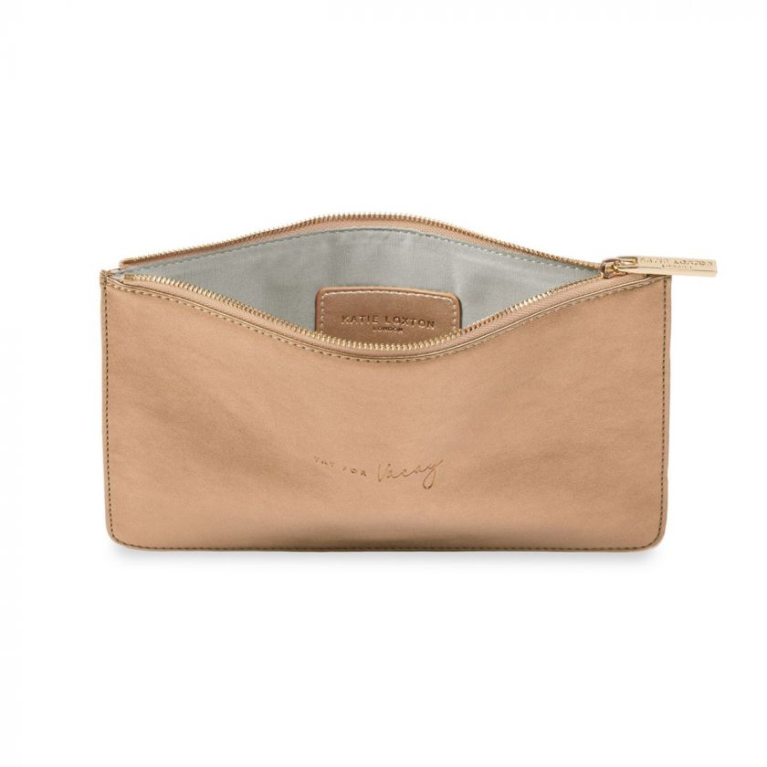 PERFECT POUCH - YAY FOR VACAY - BRONZE