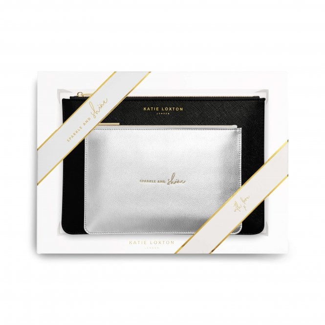 PERFECT POUCH GIFT SET– SPARKLE AND SHINE – BLACK
