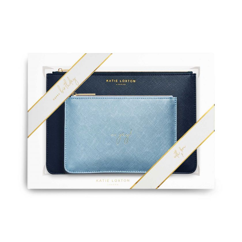 PERFECT POUCH GIFT SET - HAPPY BIRTHDAY! - NAVY