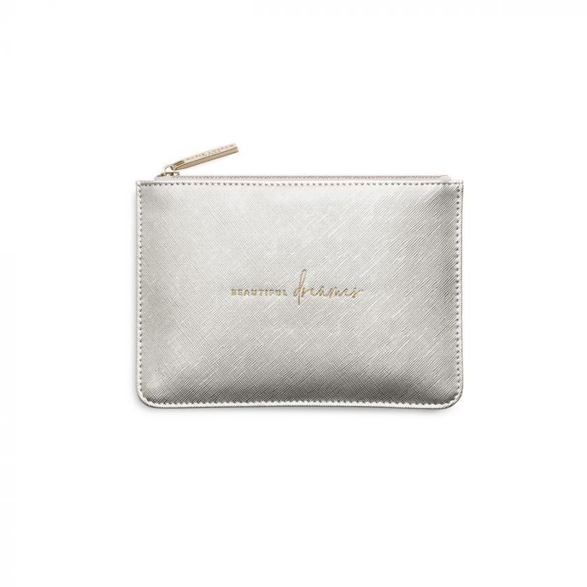 PETITE PERFECT POUCH - BEAUTIFUL DREAMER - METALLIC SILVER