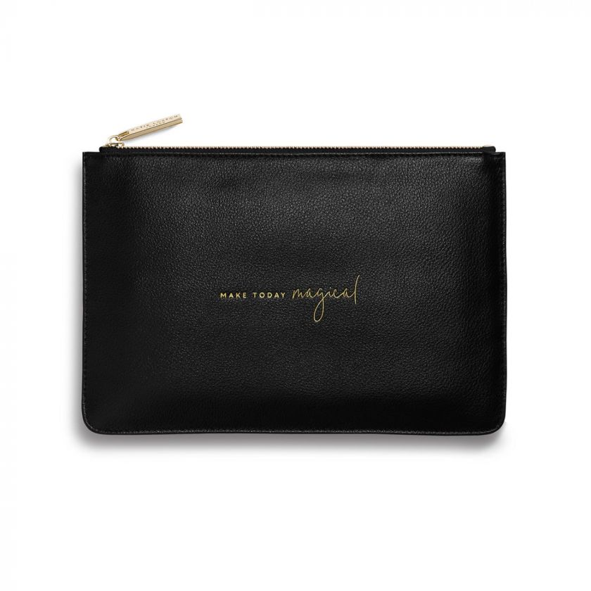 PERFECT POUCH - MAKE TODAY MAGICAL - BLACK