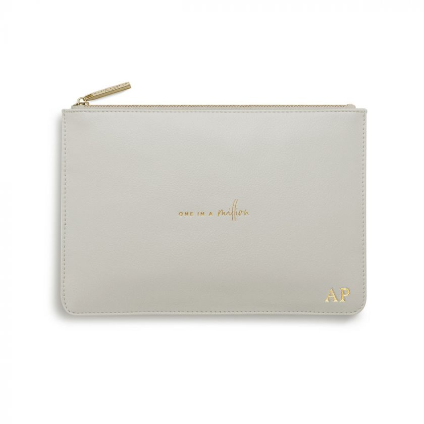 PERFECT POUCH - ONE IN A MILLION - PALE GREY