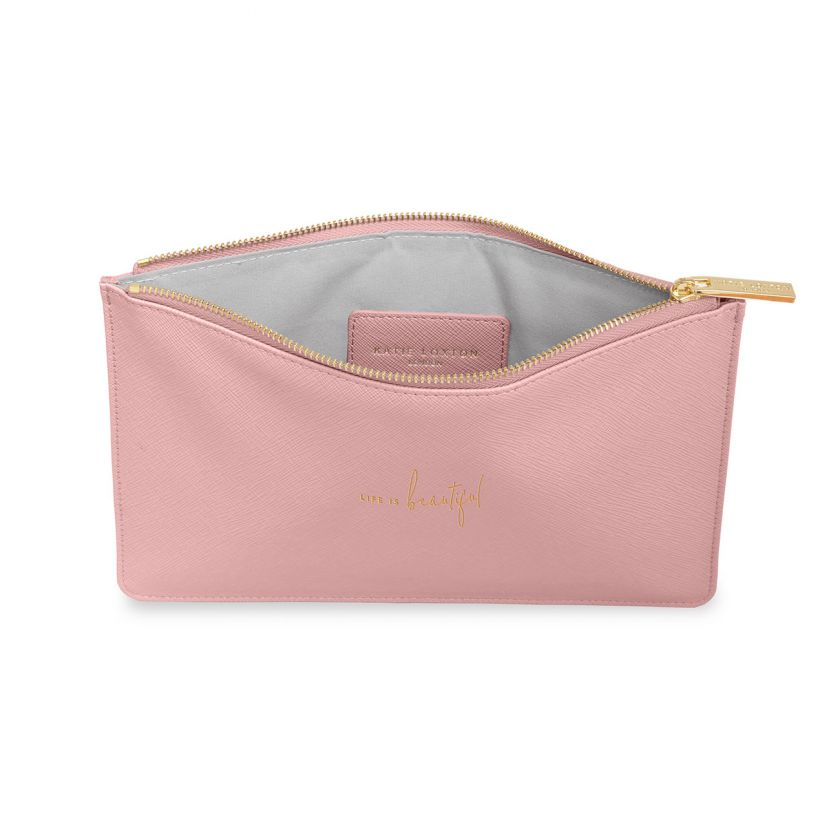 PERFECT POUCH - LIFE IS BEAUTIFUL - PINK