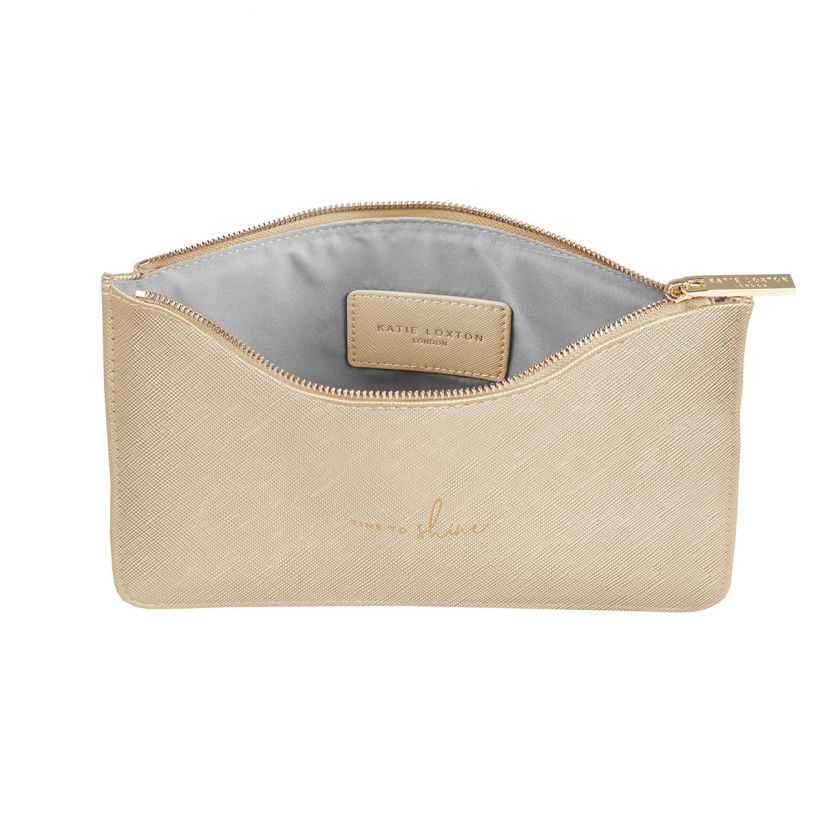PERFECT POUCH - TIME TO SHINE - METALLIC GOLD