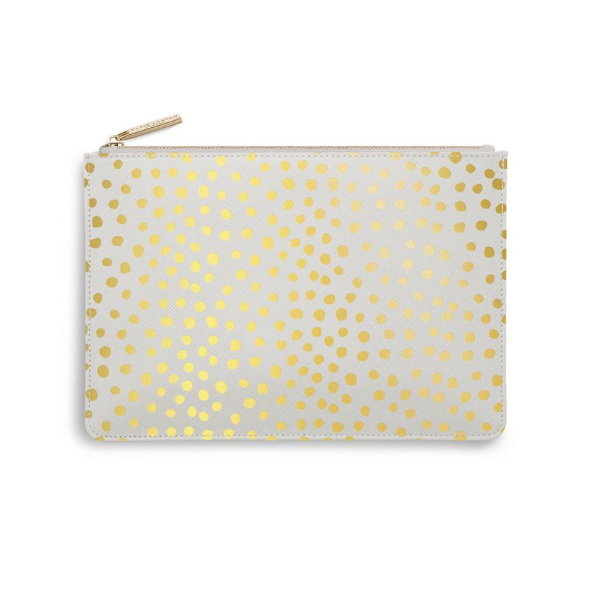 PERFECT POUCH - DALMATIAN PRINT - PALE GREY
