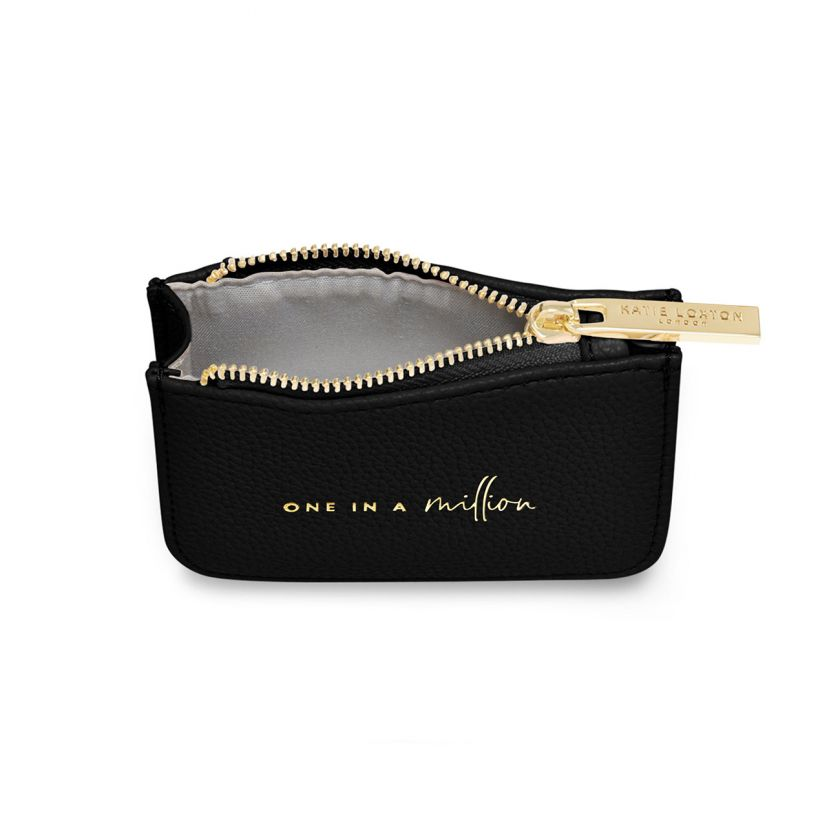 STYLISH STRUCTURED COIN PURSE - ONE IN A MILLION - BLACK