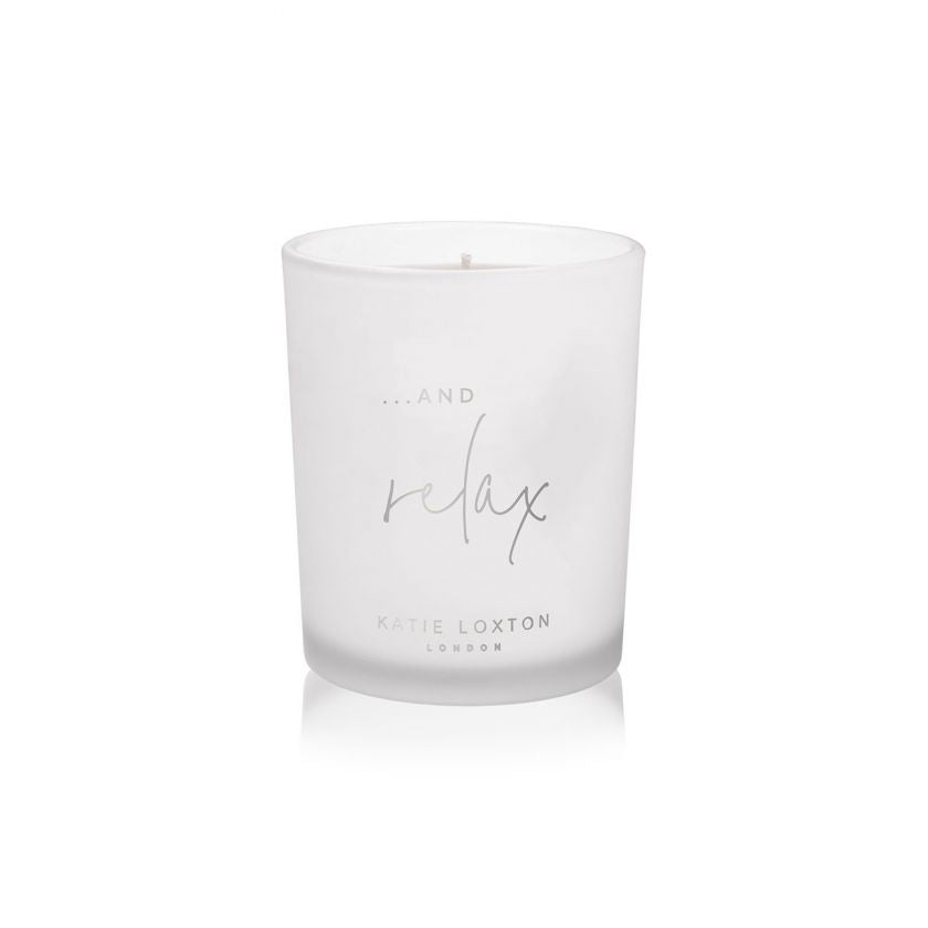SENTIMENT CANDLE - … AND RELAX - WHITE ORCHID AND SOFT COTTON