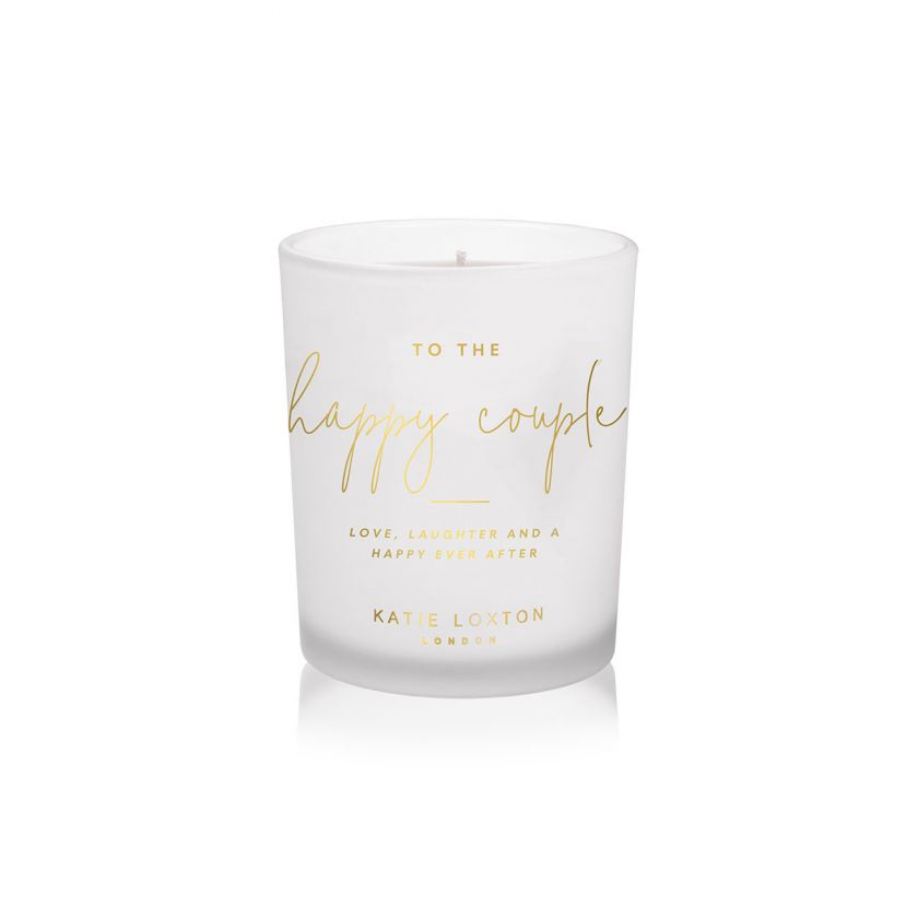 SENTIMENT CANDLE - TO THE HAPPY COUPLE - POMELO AND LYCHEE FLOWER