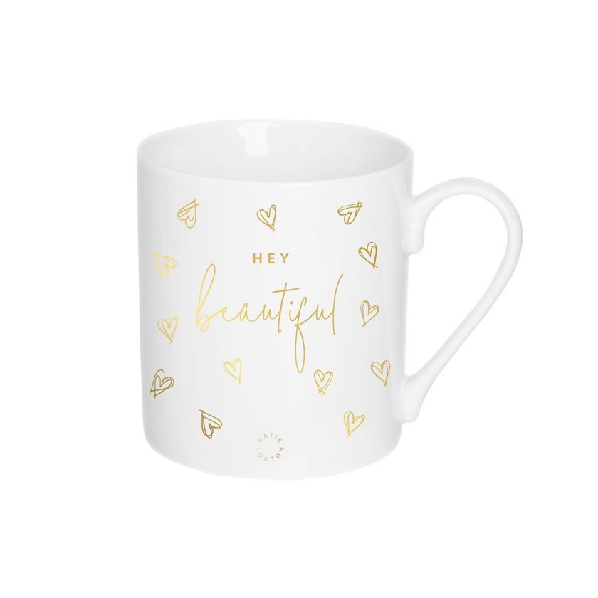 PORCELAIN MUG - HEY BEAUTIFUL