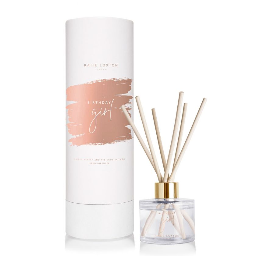 SENTIMENT REED DIFFUSER - BIRTHDAY GIRL - SWEET PAPAYA AND HIBISCUS FLOWER