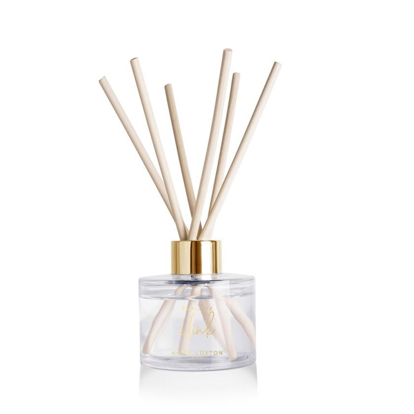 SENTIMENT REED DIFFUSER - POP FIZZ CLINK - SWEET PAPAYA AND HIBISCUS FLOWER