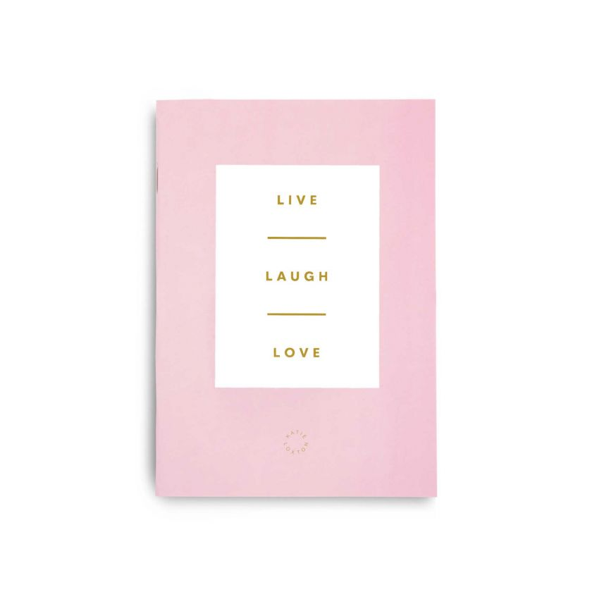 DUO PACK NOTEBOOKS - DO ALL THINGS WITH LOVE - LIVE LAUGH LOVE