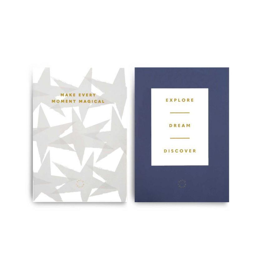 DUO PACK NOTEBOOKS - MAKE EVERY MOMENT MAGICAL - EXPLORE DREAM DISCOVER
