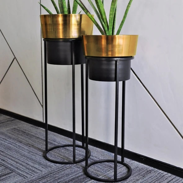 VARA STORE Bella planter Gold black