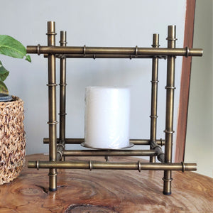 Candle holder bamboo inspired Vara store 2