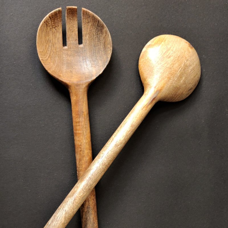 Wooden salad servers vara store 2
