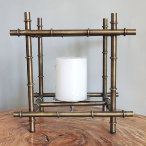 Candle holder bamboo inspired Vara store 1