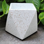Concrete speckled finish desk planter white vara store 2