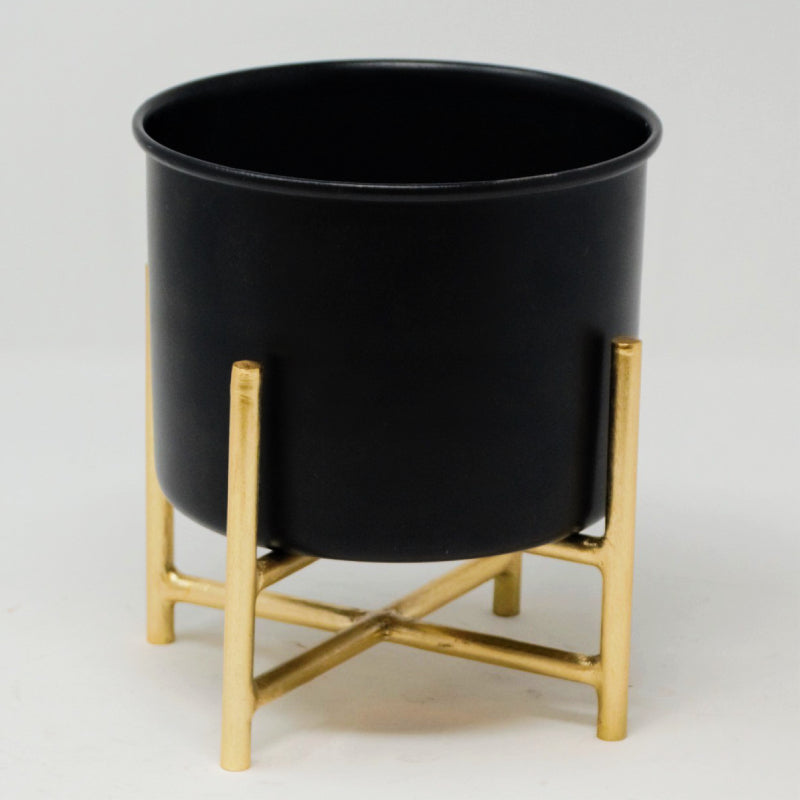 black and gold desk planter with stand vara store 2