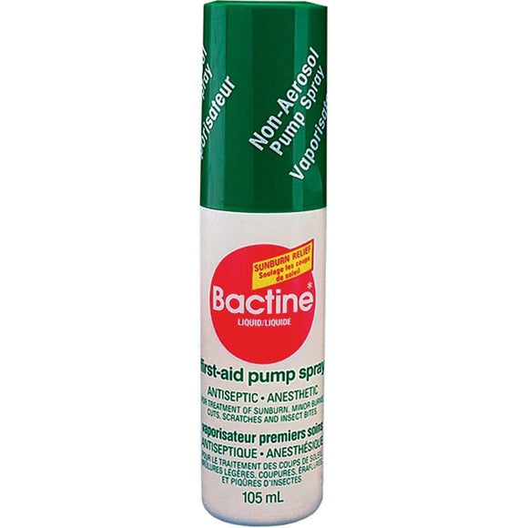 Bactine Antiseptic First Aid Pump Spray 105ml - MedWest Inc.