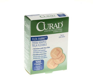 "Curad Spot BandAids 7/8"" Round, 100/bx - MedWest Inc."