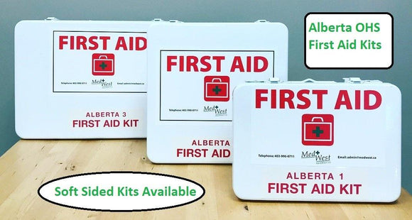Alberta OHS First Aid Kit In a Metal Kit - MedWest Inc.
