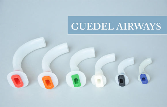 Airway Oral Guedel Plastic Disposable Assorted Color Coded OPA's 6/pk