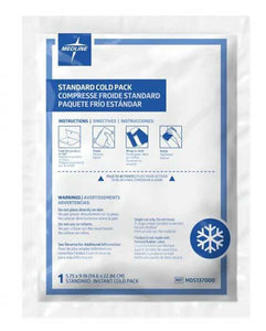 "Medline Instant Chemical Cold Packs 5"" x 9"", 24/cs"