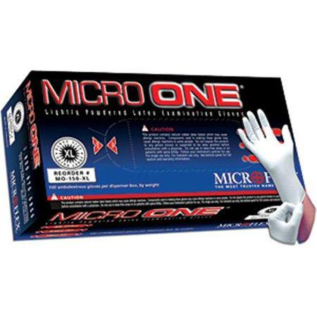 MicroOne Lightly Powdered LATEX Gloves- 100 per Box - MedWest Inc.