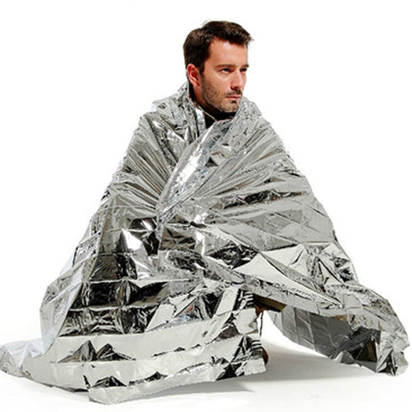Silver Mylar Rescue Emergency Foil Blanket 52