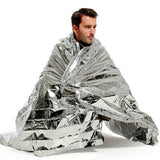 "Silver Mylar Rescue Emergency Foil Blanket 52"" x 84"""