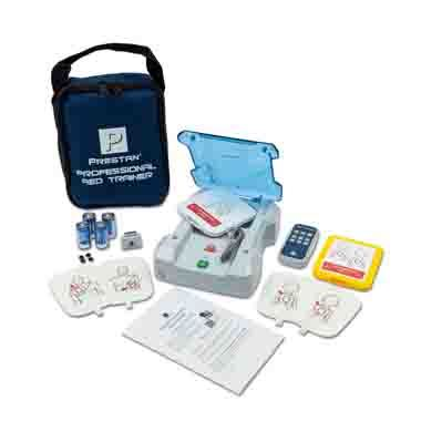 "Prestan® AED UltraTrainer™ with English/French Languages, 3 ""C"" batteries (installed), set of Adult/Infant"