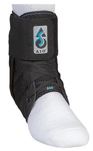 ASO Ankle Brace with Plastic Stays- Black