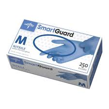 SmartGuard Nitrile Powder Free Gloves Blue, 250/bx