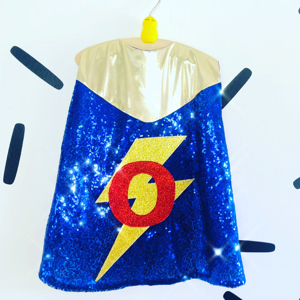 Baby Mini Hero Cape-Gold neckline edition