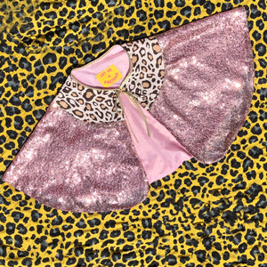 ADULT-Leopard and Pink Capelet Pre Order