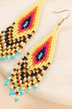 Load image into Gallery viewer, Aztec dangle earrings