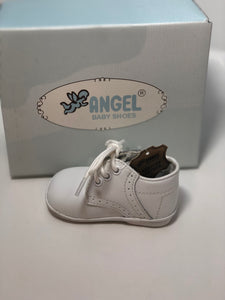 Angel James White Hi-Top boot