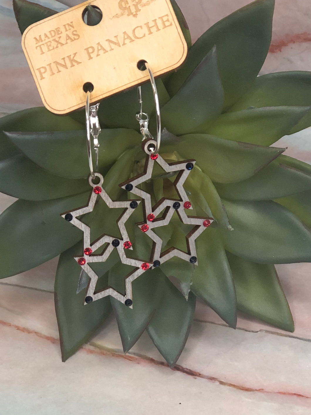 Pink Panache Star earrings