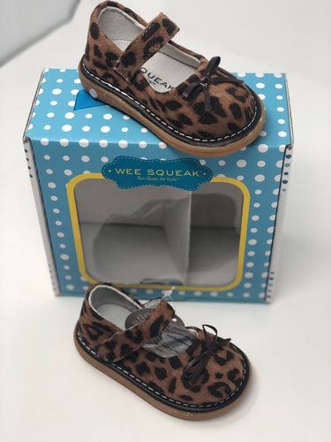 Wee Squeaks Leopard Mary Janes