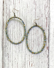 Load image into Gallery viewer, Inspired Design crystal hoops