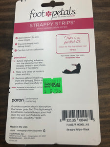 Foot petals strappy strips
