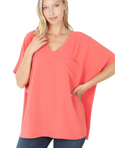 Zenana Oversized v-neck