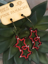 Load image into Gallery viewer, Pink Panache Star earrings