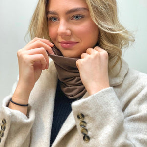Mocha Multi-Function Face Scarf / Bandanas / Headbands / Face Mask