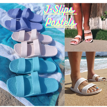 Load image into Gallery viewer, Kid's, Women's, and Men's J-Slips Hawaiian Jesus Sandals Pastel & Classic Colors