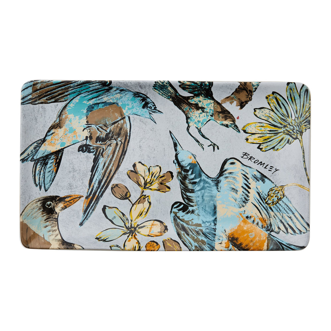 RG x BROMLEY - Rectangular platter ol bird