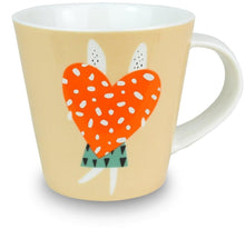 Load image into Gallery viewer, Rabbit with loveheart mug